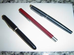 three pens