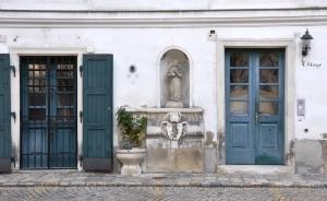 Wien_Heiligenkreuzerhof_Stiege_04_Skulptur