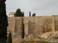 The wall at the side of the Acropolis