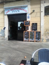 This was OUR neighborhood cafe in Poblenou, Barcelona.