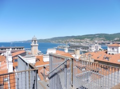 A view of Trieste from the Revoltella Museum.