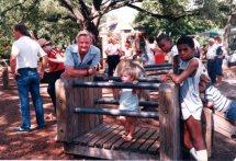 Rudy Esau & Max, Audubon Park, New Orleans, 1984