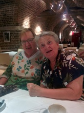 With Linda Skinner, London