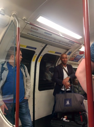 George Gregan in the London Tube