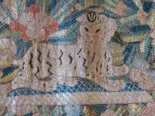 A textile lion at the Decorative Arts Museum, Alfama, Lisbon.