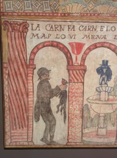 "An amusing mural in the Museu Nacional d""art Catalunya."