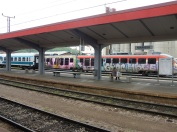 Grafittied trains in Ljubljana