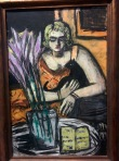 Max Beckmann, Quappi and cat, Batliner Collection, Albertina.