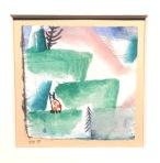 Paul Klee, Cats & landscape, Batliner Collection, Albertina.