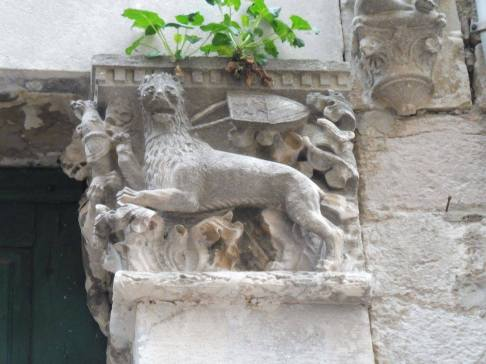 A magnificent Renaissance lion in Kotor's inner city