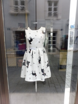 In a shop window in Rijeka--formerly Fiume, Italy--surprisingly chic for an industrial Croatian town