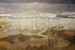Marion Mahony Griffin's magnificent drawing submitted for the competition to build Canberra.