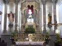 The interior of the Santuario.