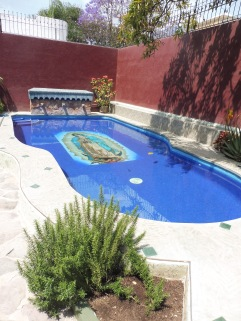 This Virgin is in an Anglo's pool, and woul dprobably be considered sacrilegious by most Mexicans.