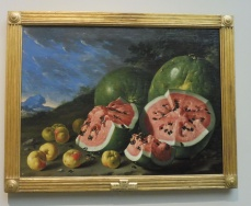 Luis Melendez, Still LIfe with Watermelons, ca. 1740