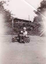 At about 10, with his beloved dog Punch. Punch was still alive when I was a baby. By this time the family had moved to Santa Barbara.