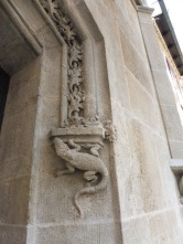 Marvelous carved details on the Old Town Hall, now the History Museum.