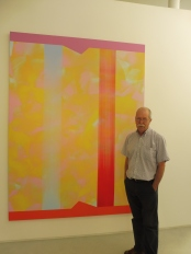 George with a painting by Slovak Istvan Nadler