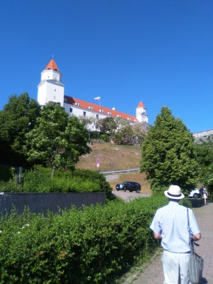 The walk up the hill to the Castle. In Fermor's time, this was the red-light district, filled with prostitute's huts.