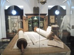 Torah display at the Jewish Museum.