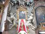 One of many elaborate altars in the Trinitarian Church.