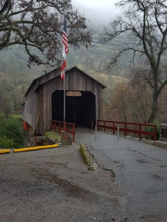 Honey Run covered Bridge, about 10 miles outside of Chico, on Butte Creek.