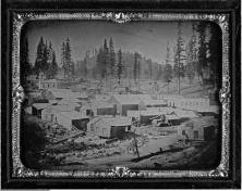 Joseph Starkweather's daguerreotype of Nevada City, 1856