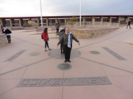 At Four Corners, where 4 states meet (Utah, Arizona, New Mexico, and Colorado)