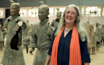 Mary Beard, posed for the article attached here.