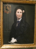 In the Museo Regional de Queretaro: Carlota in mourning