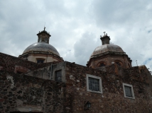 The Ex-Convent of La Cruz, central to the Siege of Queretaro, which ended Maximilian's reign in Mexico. It was located on the corner of the street where we stayed.
