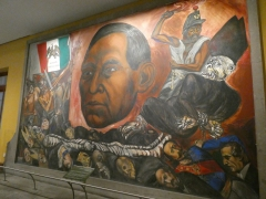 One of several murals in the Castle, this one a tribute to Juarez by Orozco.