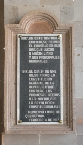 The Teatro was also where the Mexican Constitution was signed, and the National Anthem was sung for the first time.