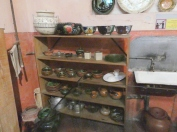 The kitchen dishes, as they were in Trotsky's day.